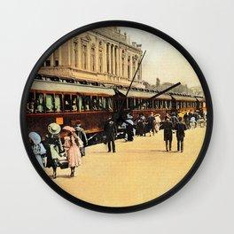 1900s Haydarpasa railroad station, train Wall Clock