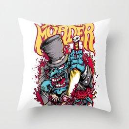 Schedule for murder Throw Pillow