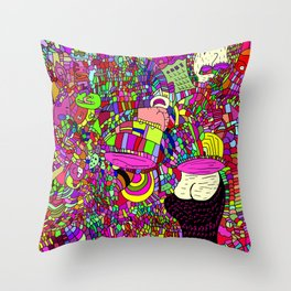 """The upside down"" Throw Pillow"