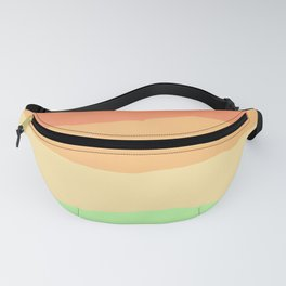 Living Coral Tropical Sunset Rainbow Abstract Fanny Pack
