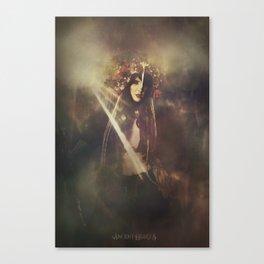 The wild huntress Canvas Print