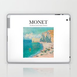 Monet - The Beach and the Falaise d'Amont Laptop & iPad Skin