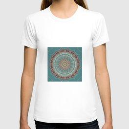 Vintage Turquoise Mandala Design T-shirt