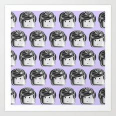 Minifigure Pattern - Violet Art Print