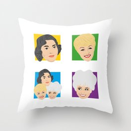 Carry On - Hattie Jacques Barbara Windsor Joan Sims Throw Pillow