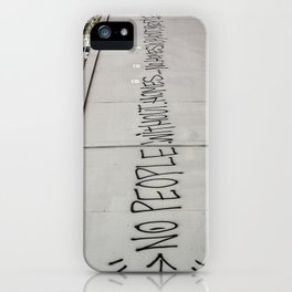 No people without homes, no homes without people.... iPhone Case