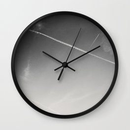 aweseome picture of contrails in the sky Wall Clock