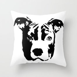 Pit Bull Terrier Dog Throw Pillow