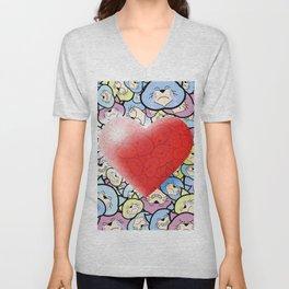 Catty Heart Unisex V-Neck
