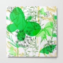 Green butterflies. Metal Print