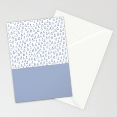 Triangles Light Blue Stationery Cards
