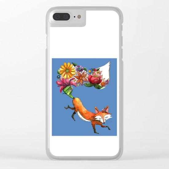 Hunt Flowers Not Foxes Two Clear iPhone Case