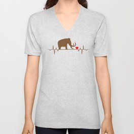 Mammoth Heartbeat Animal Love T-Shirt Unisex V-Neck