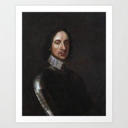 Oliver Cromwell Portrait - By Adriaen Hanneman Art Print