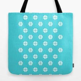 Scandinavian / Robin's Egg Blue + White Tote Bag
