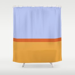 Summer 1973 Color Block Shower Curtain