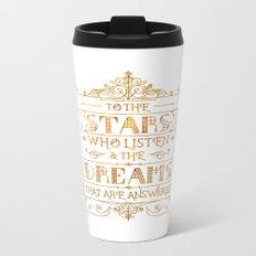 To the Stars - White Metal Travel Mug