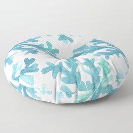 Blue Ombre Coral Floor Pillow