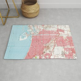 Vintage Map of Long Beach California (1964) 4 Rug