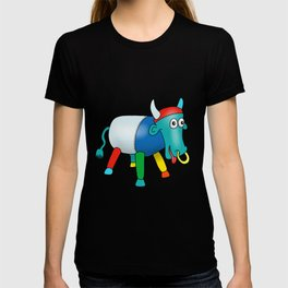 Steel Drum Colourful cow. T-shirt