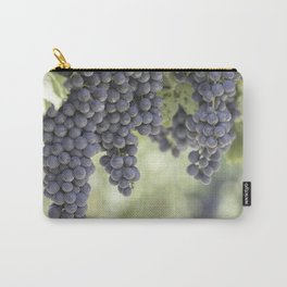 black grape grows on vineyard Carry-All Pouch