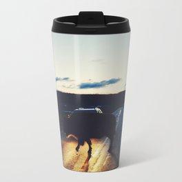 Bison in the Headlights Metal Travel Mug