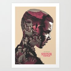 Stranger Things - Poster V2 Art Print