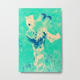 Monica Jane Turquoise Metal Print