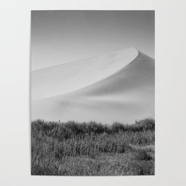 Field Mountain (Black and White) Poster