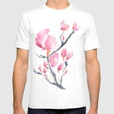 Japanese Magnolia MEDIUM Mens Fitted Tee White