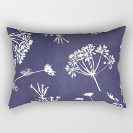 Wildflowers-Indigo Rectangular Pillow