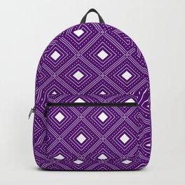 Purple Geometric Diamonds Backpack