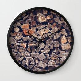 Fireside Wall Clock