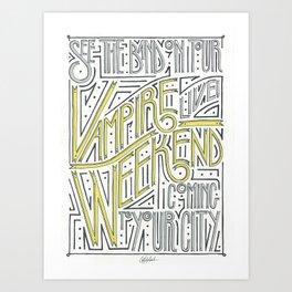Vampire Weekend Band Poster Kunstdrucke