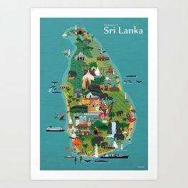 Sri Lanka Art Print