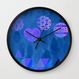 Christmas Blues Wall Clock