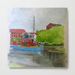 Newark Barge Metal Print