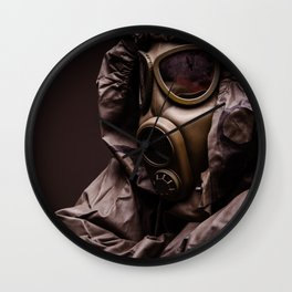 gas mask Wall Clock