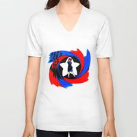 peggy carter V-neck T-shirts featuring Carter. Agent Carter. by Lydia Joy Palmer