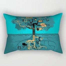 Digital Tree Rectangular Pillow