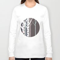 birch Long Sleeve T-shirts featuring birch trees by liva cabule