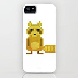 Pixel Racoon iPhone Case