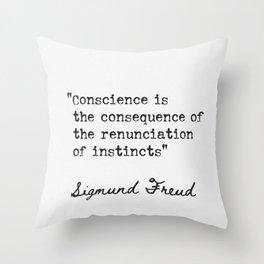Sigmund Freud Austrian neurologist Throw Pillow