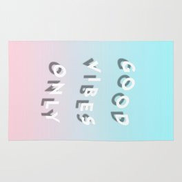 Good Vibes Only - Shadow Gradient - Vaporwave Rug