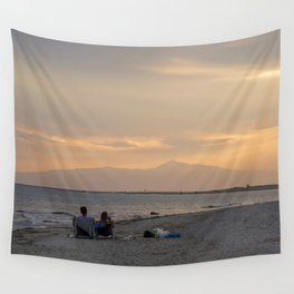Sunset Over Mt. Olympus Wall Tapestry
