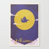 aladdin Canvas Prints featuring Aladdin by Mattias Fahlberg