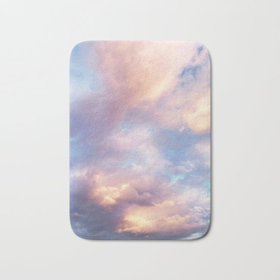 Sunset | Pink Clouds | Sky | Rainbow | Unicorn Colours | Nature Bath Mat