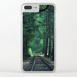 Train Rails in the Forest Clear iPhone Case