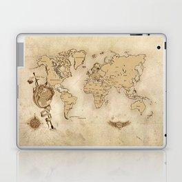 World Map (Here be Dragons!) Laptop & iPad Skin