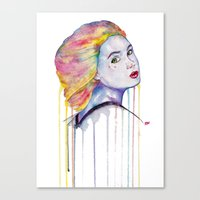 karen hallion Canvas Prints featuring Karen Gillan  by Jeremy Buckley illustration